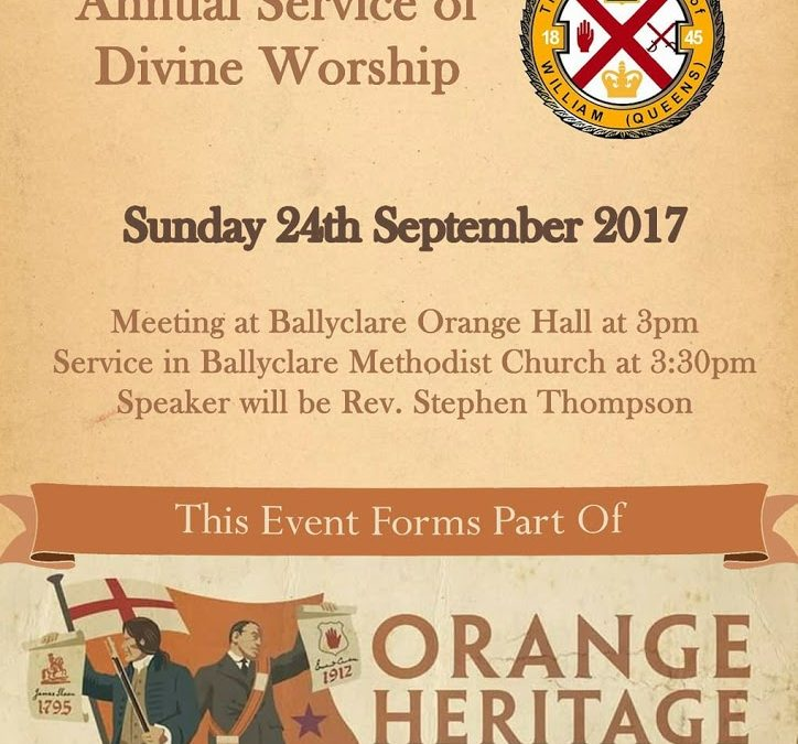 Ulster Day Church Service and Parade 2017