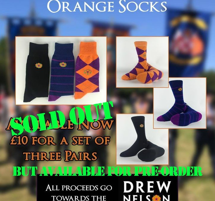 Orange Socks Available for Pre-Order